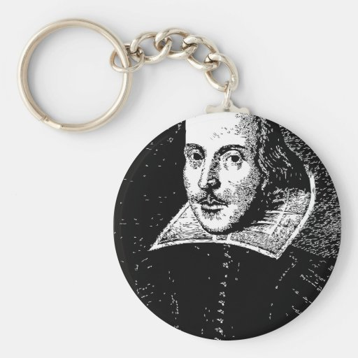 William Shakespeare Face Key Chains