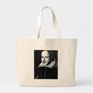 William Shakespeare Face Large Tote Bag