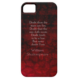 William Shakespeare Famous Love Quote Case For The iPhone 5