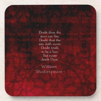 William Shakespeare Famous Love Quote Coasters