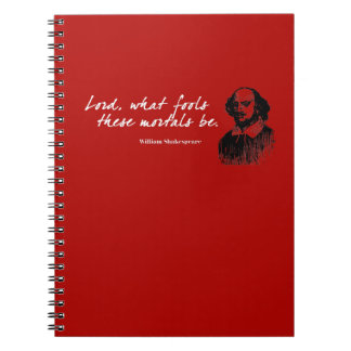 William Shakespeare Fools Quote Funny Teacher Gift Notebook