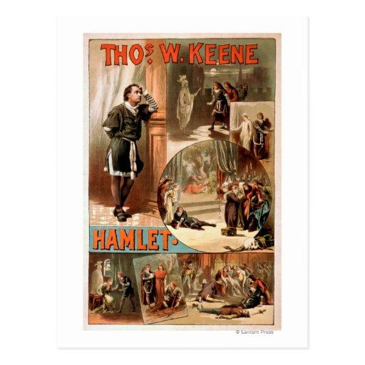"William Shakespeare ""Hamlet"" Theatre Poster Post Cards"