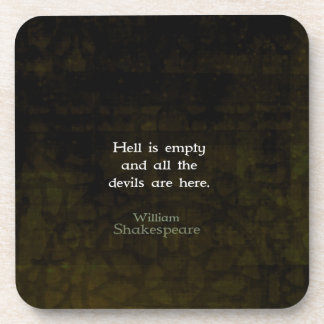 William Shakespeare Humorous Witty Quotation Drink Coasters
