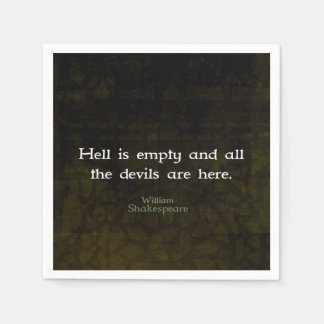 William Shakespeare Humorous Witty Quotation Disposable Serviette