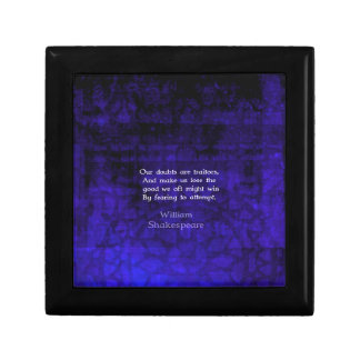 William Shakespeare Inspirational Courage Quote Gift Box