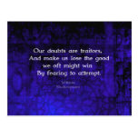 William Shakespeare Inspirational Courage Quote Postcard