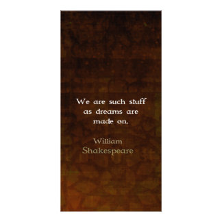 William Shakespeare Inspirational Dream Quote Personalized Photo Card