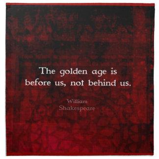 William Shakespeare Inspirational Future Quote Cloth Napkin