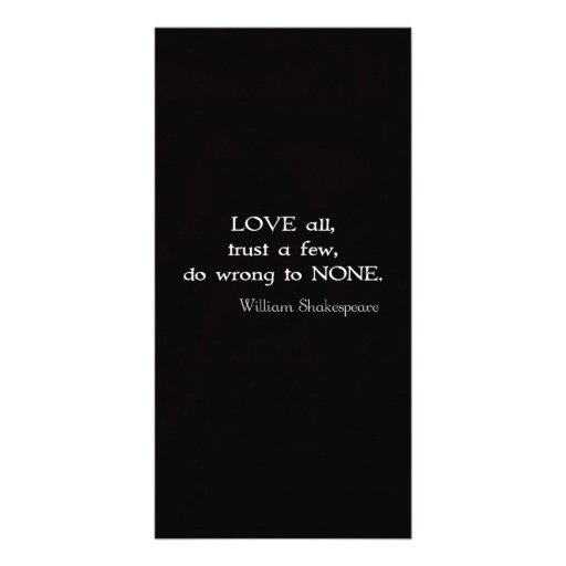 William Shakespeare Inspirational Quote About Love Photo Greeting Card