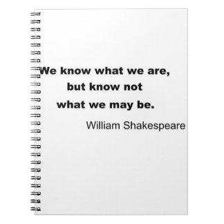 William Shakespeare Inspiring Quote Notebook