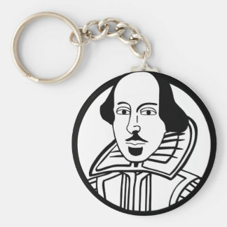 William Shakespeare Key Chain