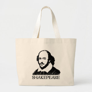 William Shakespeare Large Tote Bag