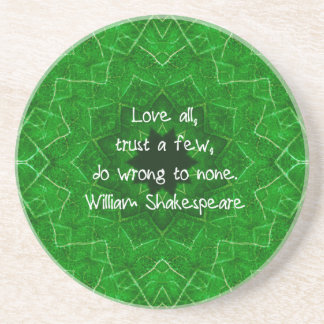 William Shakespeare Love And Trust Wisdom Saying Coasters