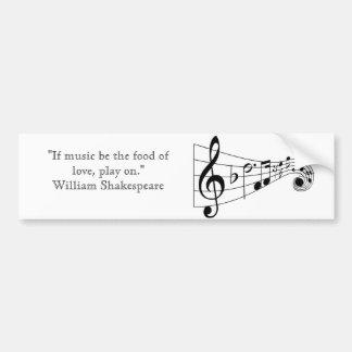 William Shakespeare music quote bumper sticker