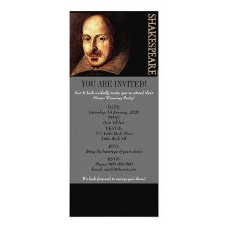 William Shakespeare Portrait 10 Cm X 24 Cm Invitation Card