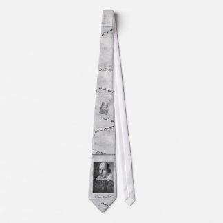 William Shakespeare Portrait and Signature Tie