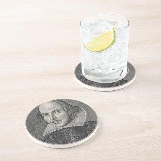 William Shakespeare Portrait Drink Coaster