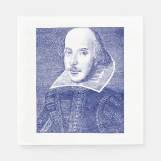 William Shakespeare Portrait First Folio Disposable Napkin