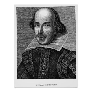 William Shakespeare Portrait Poster