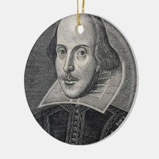 William Shakespeare Portrait Round Ceramic Decoration