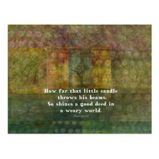 William Shakespeare quotation with painting Postcard
