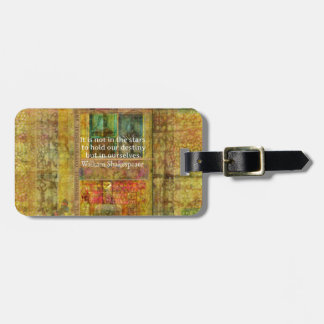 William Shakespeare QUOTE about Destiny Luggage Tag