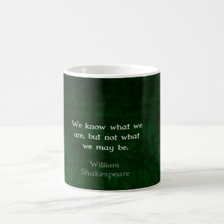 William Shakespeare Quote About Possibilities Basic White Mug