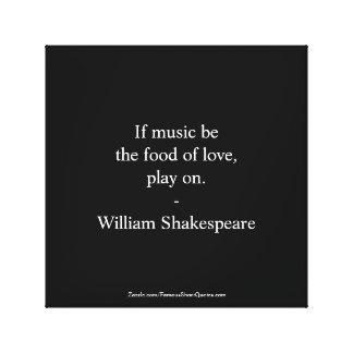 William Shakespeare Quote - Love Canvas Print