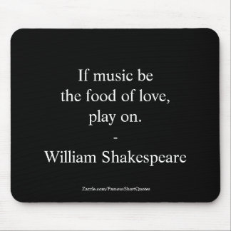 William Shakespeare Quote Love Mouse Mat
