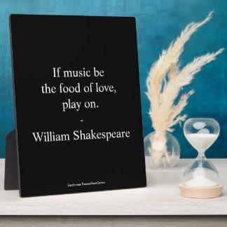 William Shakespeare Quote - Love Plaque