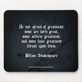 William Shakespeare Quote Mouse Mat