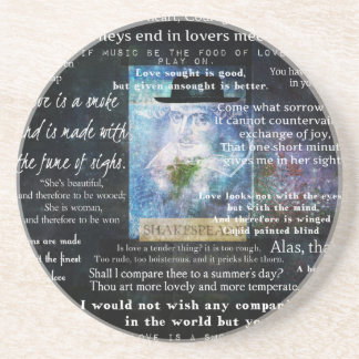 William Shakespeare quotes about love Beverage Coaster