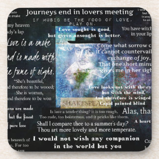 William Shakespeare quotes about love Drink Coasters
