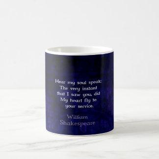 William Shakespeare Romantic Love Quote Basic White Mug