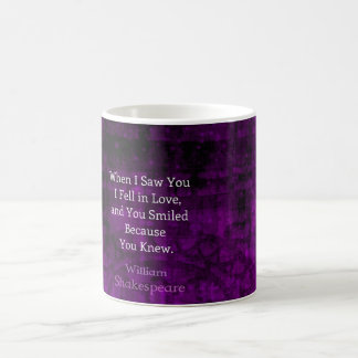 William Shakespeare Romantic Love Saying Basic White Mug