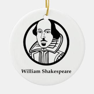 William Shakespeare Round Ceramic Decoration