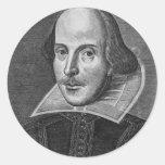 William Shakespeare Round Stickers