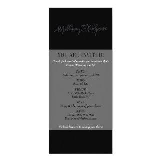 William Shakespeare Signature 10 Cm X 24 Cm Invitation Card