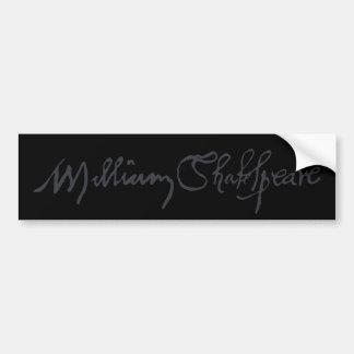 William Shakespeare Signature Bumper Stickers