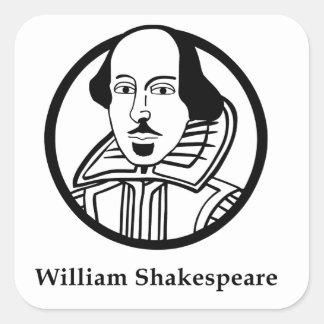 William Shakespeare Square Sticker