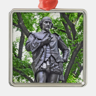 William Shakespeare Statue in Central Park Christmas Ornament