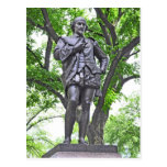 William Shakespeare Statue in Central Park Postcard