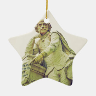 William Shakespeare statue monument Christmas Ornament