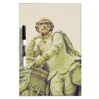 William Shakespeare statue monument Dry Erase Board