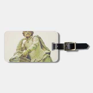 William Shakespeare statue monument Luggage Tag
