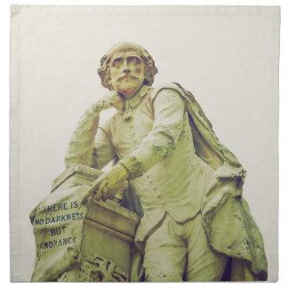 William Shakespeare statue monument Napkin