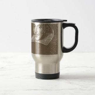 William Shakespeare Warm Gray Stainless Steel Travel Mug