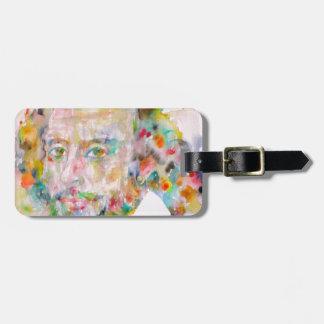 william shakespeare - watercolor portrait.1 luggage tag