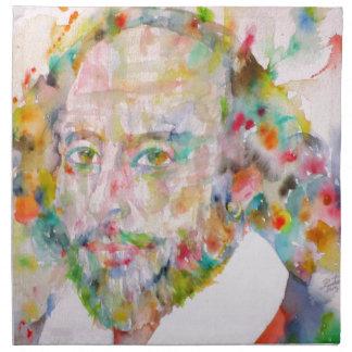 william shakespeare - watercolor portrait.1 napkin