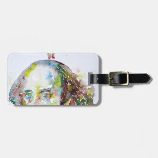 william shakespeare - watercolor portrait.2 luggage tag